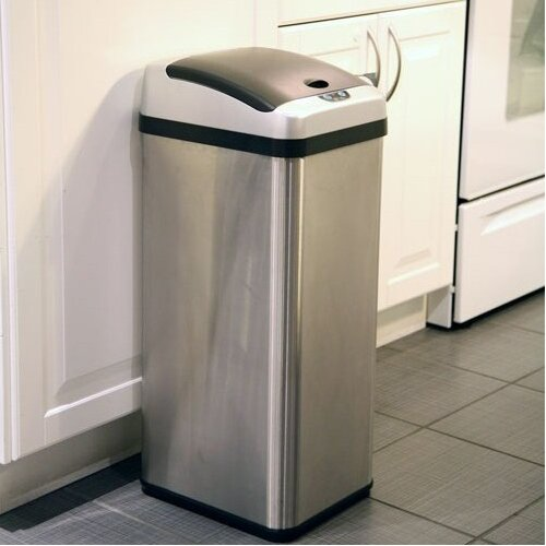 cans itouchless touchless 13 gallon motion sensor stainless steel trash 13 gallon kitchen