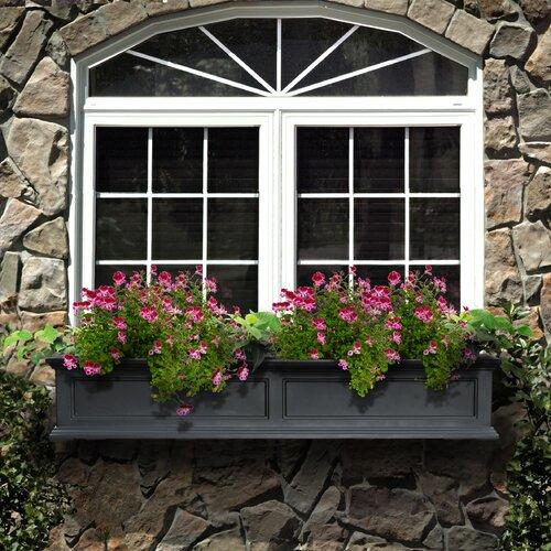 Mayne Inc. Fairfield Self-Watering Plastic Window Box Planter ...