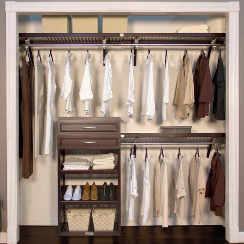 Marvelous John Louis Home Woodcrest 120W Closet System