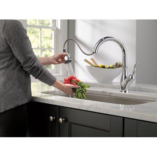Delta Leland Single Handle Pull Down Standard Kitchen Faucet – Leland Kitchen Faucet