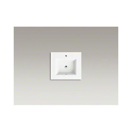 Kohler Ceramic Impressions 25 quot Rectangular Vanity Top Bathroom Sink  with Single Faucet Hole  Kohler. Kohler Vanity Sinks  universalcouncil info