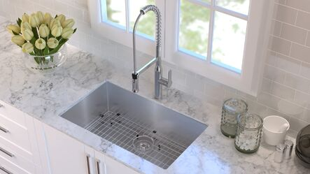 "Undermount Stainless Steel Kitchen Sinks kraus 30"" x 18"" undermount kitchen sink & reviews 