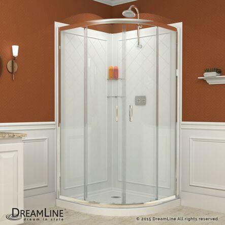 Bold, Neo Round Frameless Sliding Shower Enclosure