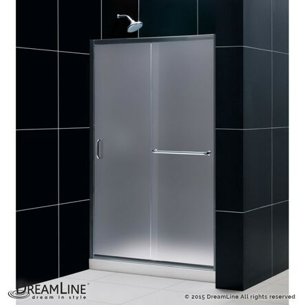 "Frameless Sliding Shower Doors dreamline infinity-z 48"" x 72"" single sliding frameless shower"