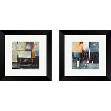 """""""Contemporary Atlantis Revisited"""" 2 Piece Painting Print on Canvas Set"""