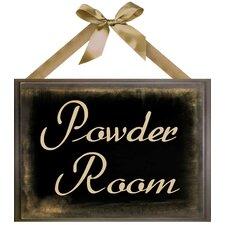 Powder Room Giclée Textual Art Plaque