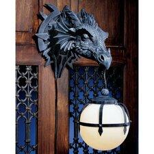 Marshgate Castle Dragon Sculptural Electric 1-Light Armed Sconce