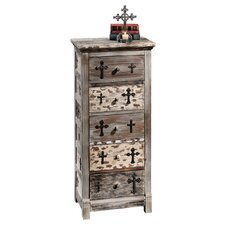 Gothic Sanctuary 5 Drawer Chest