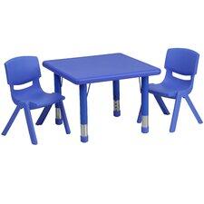 "3 Piece Square Activity Table  & 10.5"" Chair Set"
