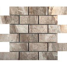 "Eurasia 2"" x 4/13 x 13"" Porcelain Mosaic Tile in Grigio"