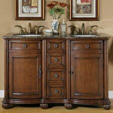 quick view brown adela quot double bathroom vanity : 55 inch double sink bathroom vanity