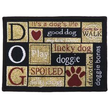 I Love Dogs Tapestry Indoor/Outdoor Area Rug