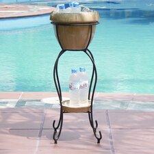 Cognac Duetto Elevated Ceramic Beverage Tub Set