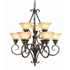 Rosedale 9-Light Shaded Chandelier
