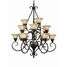 Rosedale 15-Light Shaded Chandelier