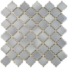 "Pharsalia 2"" x 2.25"" Porcelain Mosaic Tile in Glossy Gray"