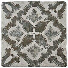 "Diego 7.75"" x 7.75"" Ceramic Field Tile in Matte Gray/Blue/Brown"