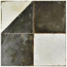 "Royalty 17.75"" x 17.75"" Ceramic Mosaic Tile in Ash Gray/Taupe"