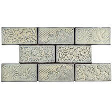 "Antiqua 3"" x 6"" Ceramic Subway Tile in Feelings Pergamon"