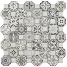 "Edredon 12.25"" x 12.25"" Ceramic Tile in Gray"