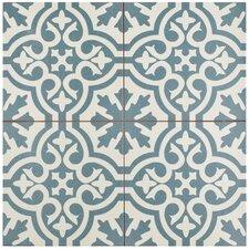 "Alameda 17.63"" X 17.63"" Ceramic Patterned/Field Tile in Spruce Blue"