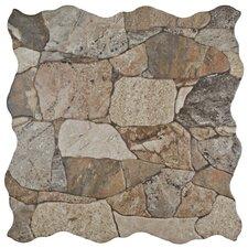 Atticas Random Sized Ceramic Splitface Tile in Brown