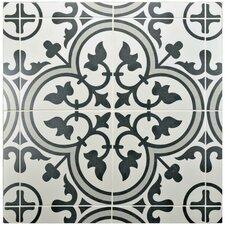 """Artea 9.75"""" x 9.75"""" Porcelain Patterned/Field Tile in Gray"""