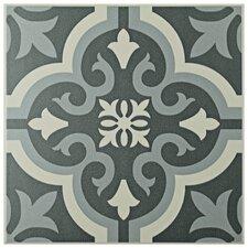 """Lima 7.75"""" x 7.75"""" Ceramic Field Tile in Gray"""