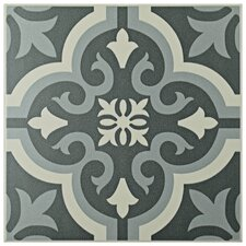 """Lima 7.75"""" x 7.75"""" Ceramic Patterned/Field Tile in Gray"""