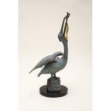 Pelican Eating Fish Figurine