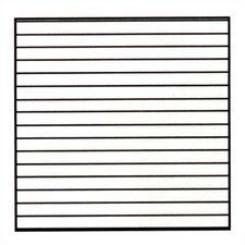 Horizontal Lines Magnetic Graphic/Grid Whiteboard, 4' H x 8' W