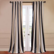 Georgetown Striped Blackout Thermal Rod Pocket Single Curtain Panel
