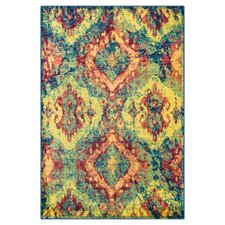 Madeline Blue/Yellow Area Rug