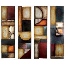 4 Piece Abstract Wall Décor Set