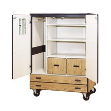 2500 Series 2 Compartment Classroom Cabinet with Casters