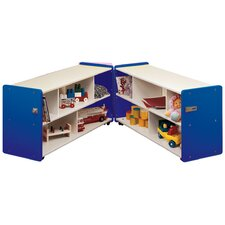 1000 Series Toddler Folding 10 Compartment Classroom Cabinet with Casters