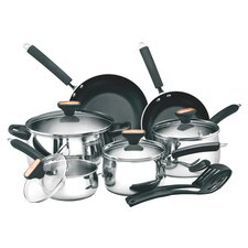 Signature 12-Piece Non-Stick Stainless Steel Cookware Set