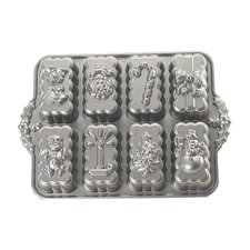 Platinum Holiday Mini Loaves Cake Pan  Nordic Ware