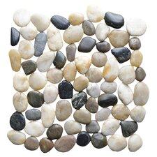 Interlocking Random Sized Natural Stone Mosaic Tile in Multicolor