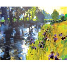 Sun And Meadow Thistles by Chris Forsey Canvas Wall Art