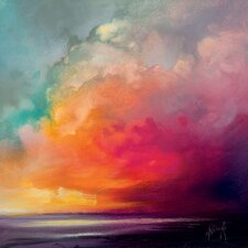 Scott Naismith - Sunset Cumulus Study 1 Canvas Wall Art