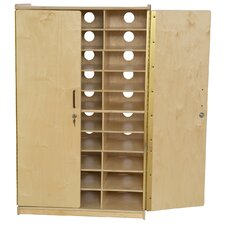 Tablet Charging 30 Compartment Classroom Cabinet with Doors