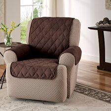 Faux Suede Furniture Recliner Slipcover