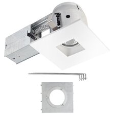 ic rated swivel spotlight square 4 led recessed lighting kit. Black Bedroom Furniture Sets. Home Design Ideas