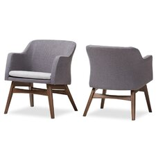 Victoria Mid-Century Modern Fabric Lounge Chair (Set of 2)