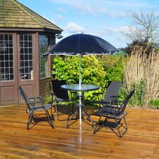 4 Seater Dining Set with Parasol