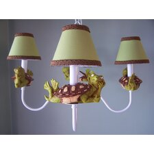 Tommy The Turtle 3-Light Shaded Chandelier