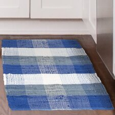 Chindi Hand-Woven Blue/White Area Rug