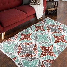 Chindi Hand-Woven Blue/Red Area Rug