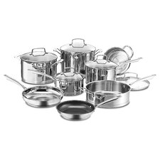 Professional 13 Piece Non-Stick Stainless Steel Cookware Set